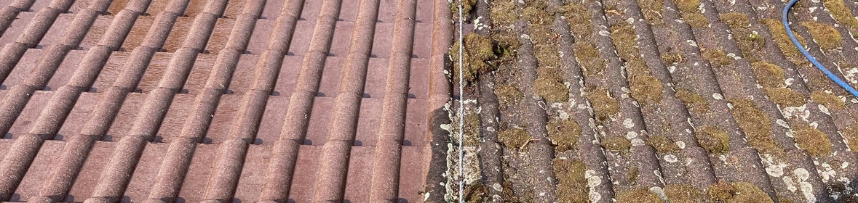 Ukázka realizace - Čištění střechy v Odrách