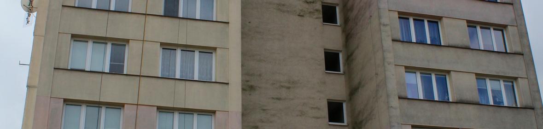 Ukázka realizace - Nátěr fasády panelového domu v Ostravě-Porubě 5 000 m2