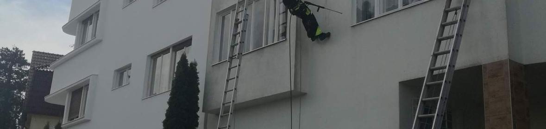 Ukázka realizace - Čištění a nátěr fasády v Brně