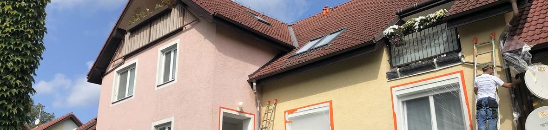 Ukázka realizace - Nátěr fasády bytového domu v Ostravě