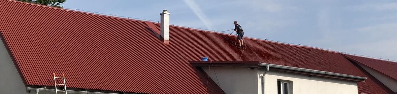 Ukázka realizace - Nátěr střechy na firemní budově