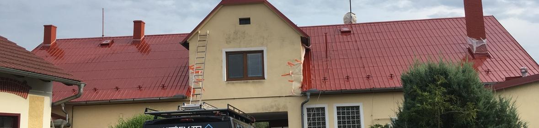Ukázka realizace - Nátěr střechy v Hustopečích nad Bečvou